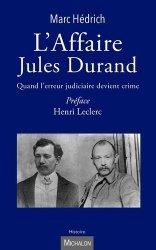 Dernières parutions sur Histoire du droit, L'affaire Jules Durand