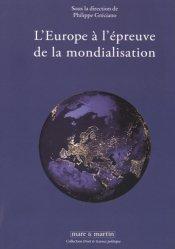 Dernières parutions dans Droit & science politique, L'Europe à l'épreuve de la mondialisation