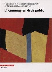 Dernières parutions dans Droit public, L'hommage en droit public