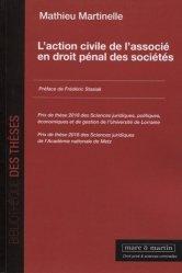 Dernières parutions sur Droit pénal des affaires, L'action civile de l'associé en droit pénal des sociétés