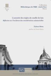Dernières parutions sur Droit international privé, L'autorité des règles de conflit de lois
