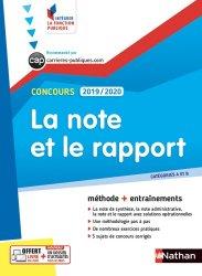 Dernières parutions dans Intégrer la fonction publique, La note et le rapport. Concours catégorie A et B, Edition 2019-2020