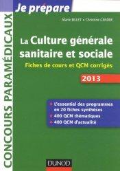 Souvent acheté avec Tests d'aptitude - Épreuve orale 2013, le La culture générale sanitaire et sociale