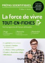 Dernières parutions sur Prépas - Écoles d'ingénieurs, La force de vivre - Tout-en-fiches - Prépas scientifiques Programme 2020-2021
