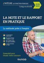 Dernières parutions sur Concours administratifs, La note et le rapport en pratique
