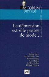 Dernières parutions dans Forum Diderot, La dépression est-elle passée de mode ?