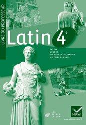 Dernières parutions sur Méthodes de langue (Scolaire), Latin 4e : Livre du Professeur