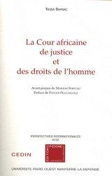Dernières parutions dans Perspectives internationales, La Cour africaine de justice et des droits de l'homme
