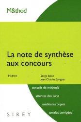 Dernières parutions sur Note de synthèse, La note de synthèse aux concours. 8e édition
