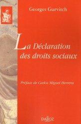 Dernières parutions dans bibliothèque dalloz, La Déclaration des droits sociaux