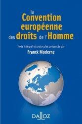 Dernières parutions sur Droits de l'homme, La Convention européenne des droits de l'homme. 4e édition