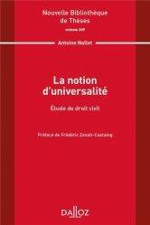 Dernières parutions sur Autres ouvrages de philosophie du droit, La notion d'universalité