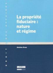 Dernières parutions dans Droit des affaires, La propriété fiduciaire : nature et régime majbook ème édition, majbook 1ère édition, livre ecn major, livre ecn, fiche ecn