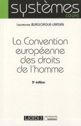 Dernières parutions sur Europe et droits de l'homme, La Convention européenne des droits de l'homme. 3e édition