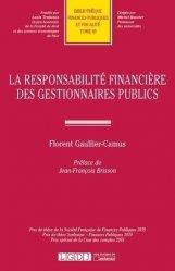 Dernières parutions sur Finances publiques, La responsabilité financière des gestionnaires publics