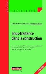 Dernières parutions dans Guides juridiques, La sous-traitance dans la construction