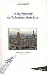 Dernières parutions sur Droit anglais, La souveraineté du Parlement britannique