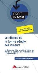 Dernières parutions dans Droit en poche, La réforme de la justice pénale des mineurs. 18 fiches pour faire le point sur toutes les innovations apportées par l'ordonnance du 11 septembre 2019