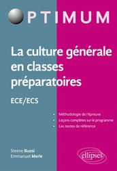 La culture generale en classes préparatoires ece-ecs