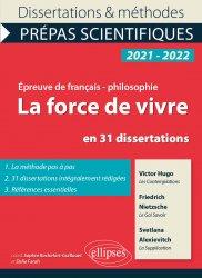 Nouvelle édition La force de vivre en 31 dissertations