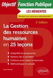 Dernières parutions dans Objectif Fonction Publique, La gestion des ressources humaines en 25 leçons