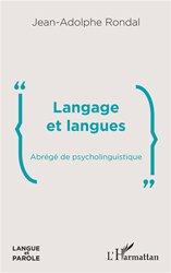 Dernières parutions sur Troubles neurologiques et cognitifs, Langage et langues