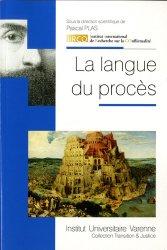 Dernières parutions dans Transition & justice, La langue du procès