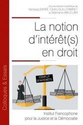 Dernières parutions dans Colloques & Essais, La notion d'intérêt(s) en droit