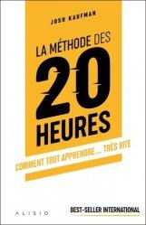 Dernières parutions sur Méthode de travail, La méthode des 20 heures