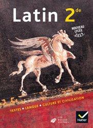 Dernières parutions sur Latin, Latin 2de - Éd. 2019 - Livre de l'élève