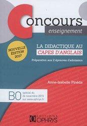 Nouvelle édition La didactique au CAPES d'anglais