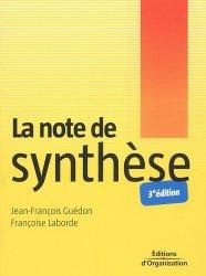 Dernières parutions sur Note de synthèse, La note de synthèse. 3e édition
