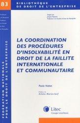 Dernières parutions dans Bibliothèque de droit de l'entreprise, La coordination des procédures d'insolvabilité en droit de la faillite internationale et communautaire