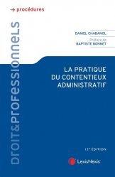 Dernières parutions dans Droit & Professionnels, La pratique du contentieux administratif. 13e édition