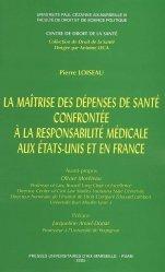 Souvent acheté avec Les établissements hébergeant des personnes âgées dépendantes, le La maîtrise des dépenses de santé confrontée à la responsabilité médicale aux Etats-Unis et en France