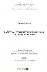 Dernières parutions dans Institut de droit des affaires, La notion d'intérêt de l'entreprise en droit du travail