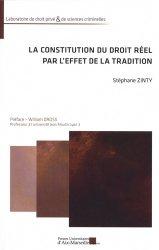 Dernières parutions dans Laboratoire de droit privé & de sciences criminelles, La constitution du droit réel par l'effet de la tradition