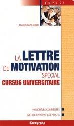 Dernières parutions dans Guides J Emploi, La lettre de motivation spécial cursus universitaire
