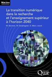 Dernières parutions dans Matière à débattre & décider, La transition numérique dans la recherche et l'enseignement supérieur à l'horizon 2040
