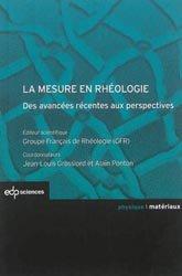 Dernières parutions sur LMD, La mesure en rhéologie
