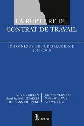 Dernières parutions sur Contrat de travail, La rupture du contrat de travail