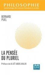 Dernières parutions sur Philosophie, histoire des sciences, La pensée du pluriel