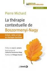 Dernières parutions dans Carrefour des psychothérapies, La thérapie contextuelle de Boszormenyi-Nagy