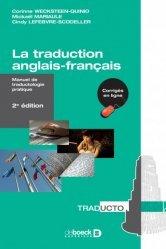 Dernières parutions sur Outils d'apprentissage, La traduction anglais-français