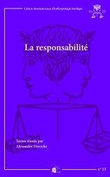 Dernières parutions dans Cahiers de l'Institut d'Anthropologie Juridique, La responsabilité