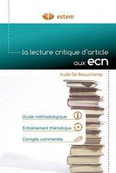 Souvent acheté avec Lecture critique d'articles, le La lecture critique d'articles aux ECN