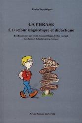 Dernières parutions sur Linguistique, La phrase