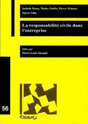 Dernières parutions dans Cedidac, La responsabilité civile dans l'entreprise