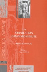 Dernières parutions dans Thèses Ecole doctorale CF, La stipulation d'indisponiblité