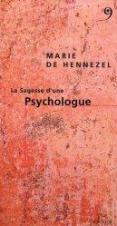 Dernières parutions dans Sagesse d'un métier, La sagesse d'une psychologue